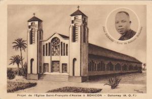 DAHOMEY , Africa , 1910s ; Projet de l'Eglise Saint-Francois-d'Assise a BOHICON