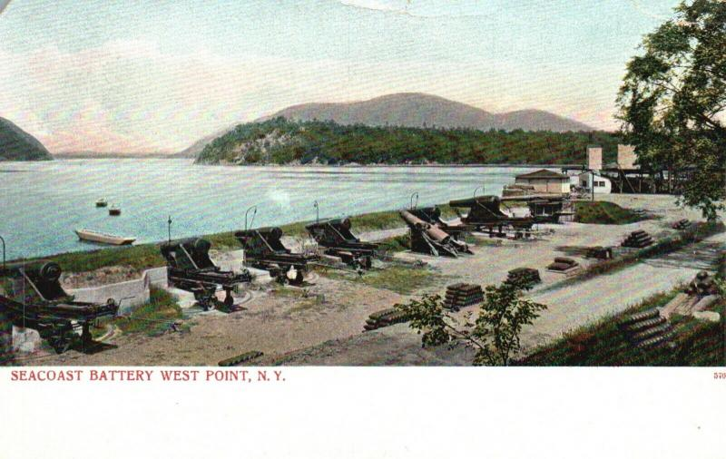 West Point, New York, NY, Seacoast Battery, Undivided Vintage Postcard f1892