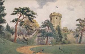 AS, Guy's Tower, Warwick Castle, Warwick, England, UK, 1900-1910s
