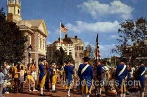 Liberty square fife and drum corps Disney Postcard Post Card  Liberty square ...