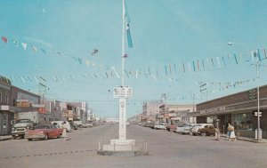 Dawson Creek, B.C., Canada, 50-60s ; Mile ZERO of the Alaska Hiway