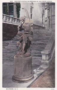 North Carolina Durham Biltmore Ancient Statue In Grounds Of Biltmore House