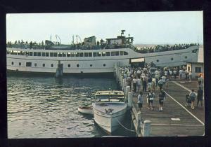 Narragansett, Rhode Island/RI Postcard, Block Island Steamer At Galilee Dock