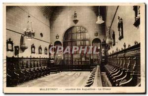 Postcard Old Malestroit Augustinian Monastery Choir