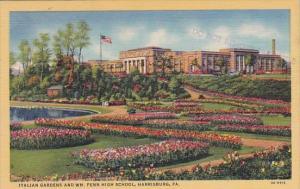 Italian Gardens And Williams Penn High School Harrisburg Pennsylvania