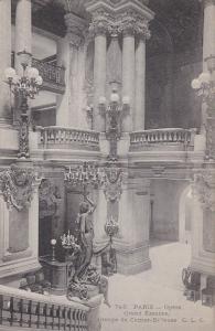 PARIS, France; Opera, Grand Escalier, Groupe de Carrier-Belleuse, 00-10s