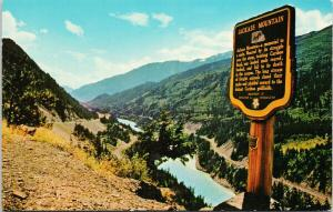 Jackass Mountain Lookout Sign Fraser Canyon BC UNUSED Vintage Postcard D97