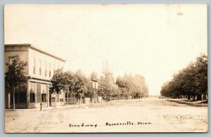 Barnesville MN~Broadway~Main Street Storefronts~Pic Shows Some Town~1914 RPPC