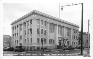 1940s Benawah County Court House St. Marie's Idaho Leo's RPPC real Photo 8943