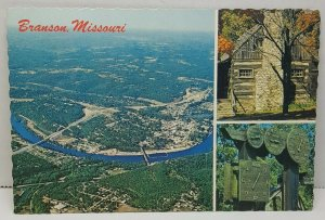 Aerial View Branson Missouri Vintage Postcard