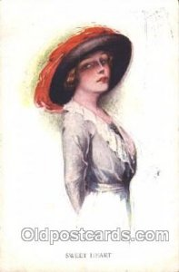Sweet Heart Artist Signed Court Barber 1915 small crease left top corner, som...