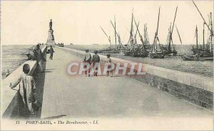 Postcard Old Port Said The Breakwater Yacht