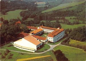 BR51740 L abbaye de belloc urt Hasparren vue aerienne France