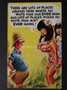 Bamforth & Co: Taylor THERE ARE LOTS OF PLACES WHERE NO WHITE MAN HAS EVER BEEN