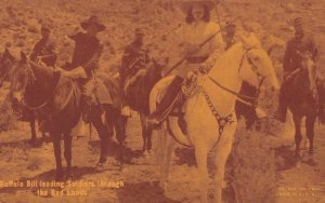 Movie scene , Buffalo Bill leading Soldiers through the Bad Lands , 1920-30s