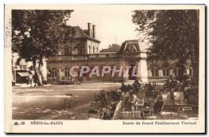 Old Postcard Neris les Bains Grand Entree spa establishment