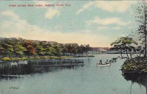 View across Deal Lake, Asbury Park,  New Jersey, PU-1912