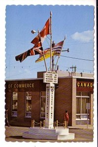 Mile Zero Post of the Alaska Highway, Dawson Creek,  British Columbia, Flags