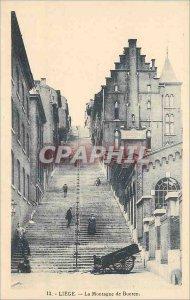 Old Postcard Liege La Montagne de Bueren
