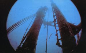 Barbados Diving Sites West Indies WI Dive Diver SS Stravronikita Postcard D14