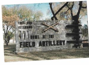 Fort Sill Oklahoma U S Army Post Home of the Field Artillery Entrance 4 by 6
