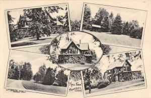 Pomfret Connecticut Hall Farm Multiview Antique Postcard K63838