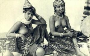 Femmes Arabes du sud algerien Arab Nude Old Vintage Antique Post Card Post Ca...