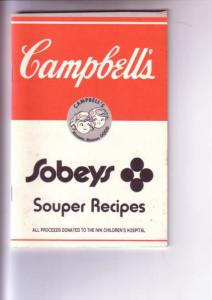 Cambell's Sobeys Recipes, IWK  Hospital Halifax, Nova Scotia 1989