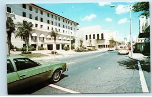 San Juan Puerto Rico Street View Condado Beach Motel Vintage Postcard D80