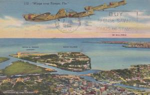 Florida Tampa Wings Over Tampa 1942 Curteich