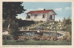 PARRY SOUND, Ontario, Canada, PU-1950; Rock Garden And Ranger's Cabin
