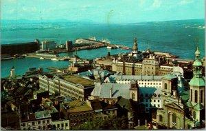 Quebec City PQ Canada Harbour Port Postcard Used (33354)