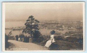 RPPC  OSLO, NORWAY ~ Christiania fra Ekeberg ca 1910s Real Photo Postcard