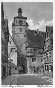 Rothenburg am Tauber Weifser Turm Tower Gate Promenade