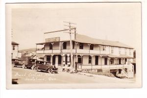 Real Photo, Grand Central Hotel, Scotstown, Quebec, Nice 1930 Cork Cancel, 20...