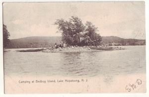 P863 1906 camping at bedbug island, lake hopatcong new jersey