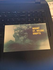 Vintage Postcard: Mt St Helens Washington , MT ST Helens Erupts ( #1)
