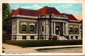Illinois Danville Public Library 1925 Curteich