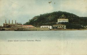 china, MACAU MACAO, Green Island Cement Factories (1908)