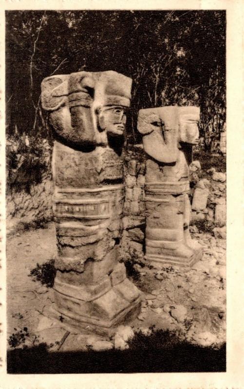 Mexico Yucatan Chichen-Itza Stone Cariatides