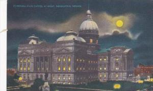 Indiana Indianapolis Indiana State Capitol At Night