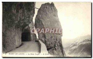 Old Postcard Foret de Lente La Roche Coupee right Combe Laval