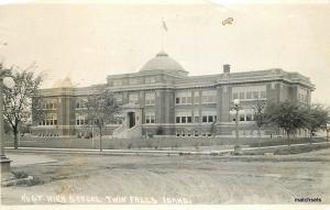 1920s Andrews Twin Falls Idaho High School RPPC real photo postcard 9326