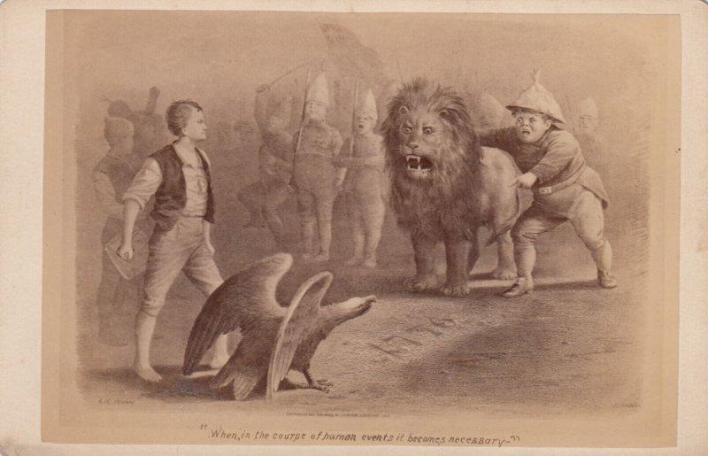 CC : American Eagle verses China lion , 1880s