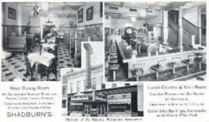 Shadburn's Colorado Springs, CO, USA Postcard Post Cards Old Vintage Antique ...