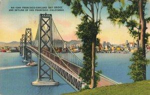 Postcard Oakland Bay Bridge California