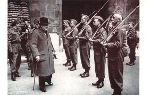 London 1942 Winston Churchill inspects House of Commons Guards Nostalgia Reprint