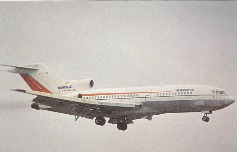 Wardairs First Aircraft, 727-11 CF-Fun shown landing at LGW., 60-80s