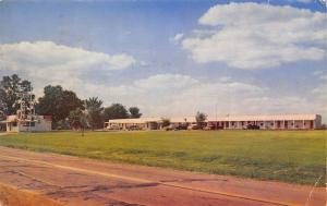 Lawrenceville Illinois~Nob Hill Motel~Roadside Coca-Cola Diner~1950s Postcard