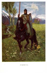 Parsifal  Knight astride Horse